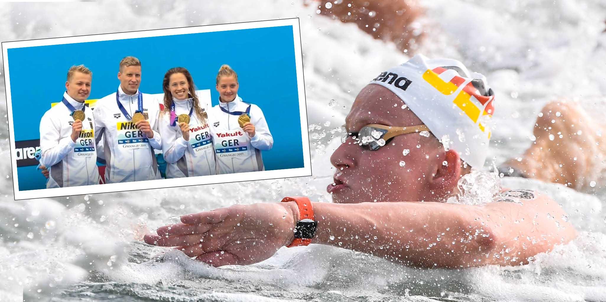 Mit Kampf zu Gold: Deutsche Freiwasser Staffel holt den WM Titel
